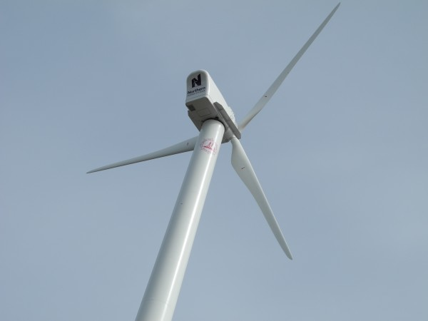 A 122-foot-tall wind turbine began generating energy for Camden Hills Regional High School in Rockport last week.