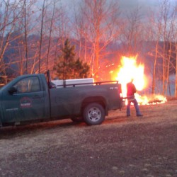 Forester rangers encourage caution when burning outdoor fires