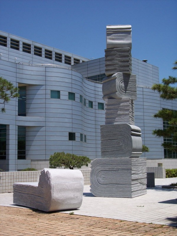 Hwang Seung Woo of South Korea is among eight sculptors chosen for the 2012 Schoodic International Sculpture Symposium. Artists are preparing to create works of art that will be located in Bangor, Orono and Old Town and on the Husson University and University of Maine campuses.