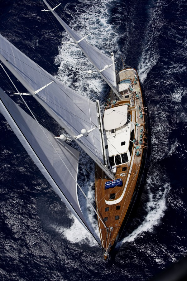 The 98-foot Windcrest yacht, which Hodgdon launched in 2006 for a private owner, ranked third out of 47 similar vessels recently in the St. Barth's Bucket, a race in the Caribbean where the competitors sail some of the best super-yachts in the world.