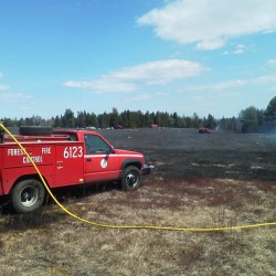 Gouldsboro wildfire under control, contained at 2 acres