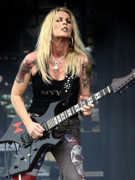 Lita Ford, rock musician and singer, performs in June 2009.