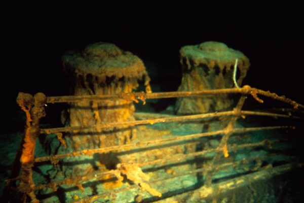 &quotRusticles&quot cover capstans on the deck of Titanic.