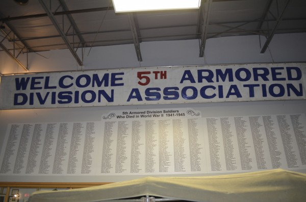 One wall in the 5th Armored Division Room at Cole Land Transportation Museum in Bangor bears the names of nearly 1,000 5th Armored members who were killed in World War II. The museum will hold the final worldwide reunion of the association June 14-17.