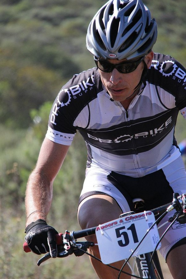 Dana Weber of Aliso Viejo, Calif., won the 55-mile Vision Quest mountain bike race on April 7 in Orange County, Calif.