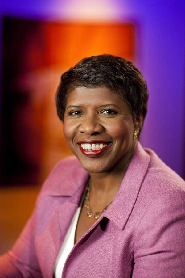 PBS Anchor Gwen Ifill on the set of Washington Week at WETA studios in Arlington, Va.