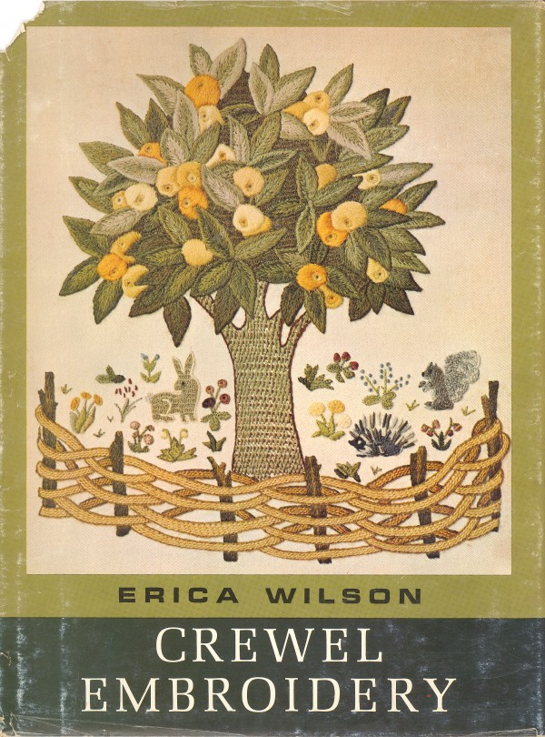 Book cover for Erica Wilson's &quotCrewel Embroidery.&quot