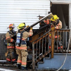 Man, dog burned in grease fire in Lewiston