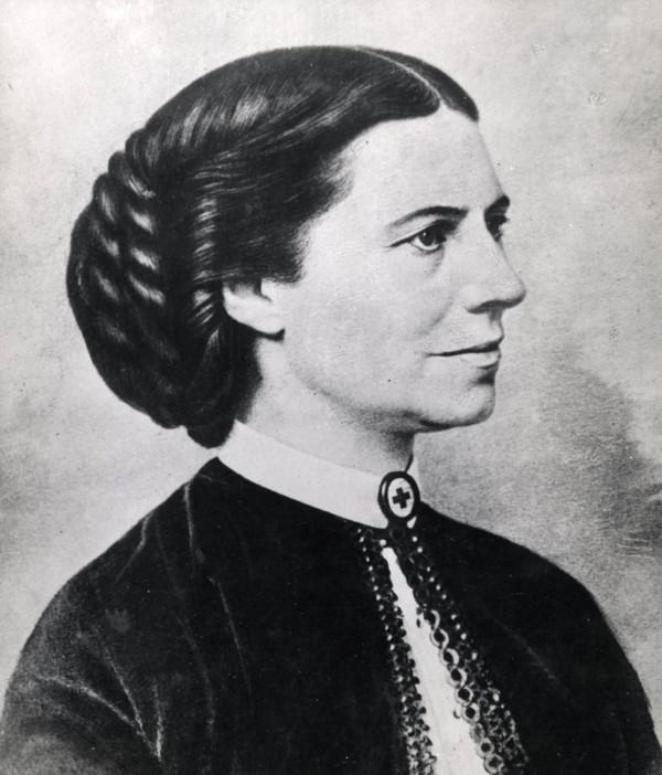 Clara Barton circa 1865.