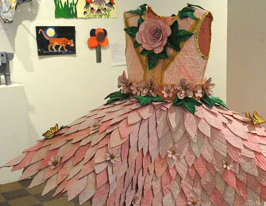 Cardboard art in the &quotCorrugation Nation&quot exhibit at the Waterfall Arts in Belfast.