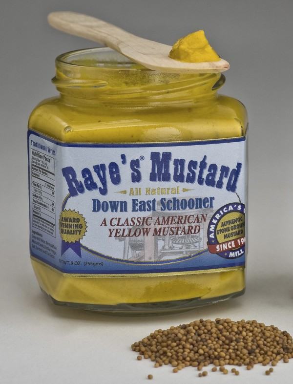 Raye's Down East Schooner Mustard received a gold medal, and the company's Sea Dog Mustard won a bronze medal at the 2012 World-Wide Mustard Competition.