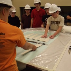 State high school students compete in wind blade design contest at UM