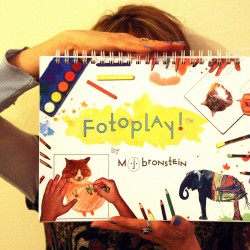 "Marcie Jan Bronstein with her book, ""Fotoplay"""