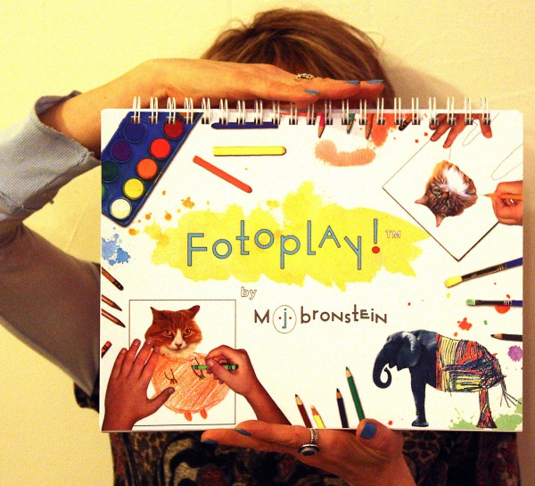 Marcie Jan Bronstein with her book, &quotFotoplay&quot