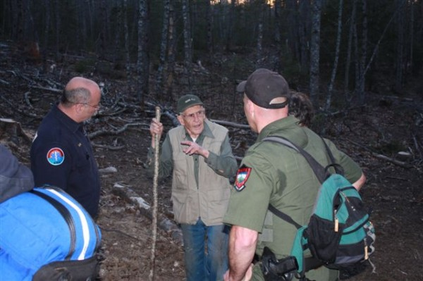 Robert Guillard, 91, of Boothbay was found in the woods behind his home on the evening of Sunday, April 15, 2012 after his wife reported him missing earlier that day. Game Warden Pilot Dan Dufault spotted Guillard at 6:50 p.m. about half a mile from his home.