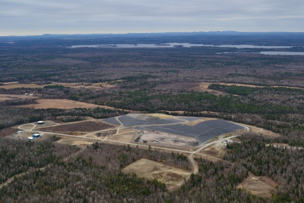 The Juniper Ridge landfill is seen in an aerial photo on April 6, 2012.