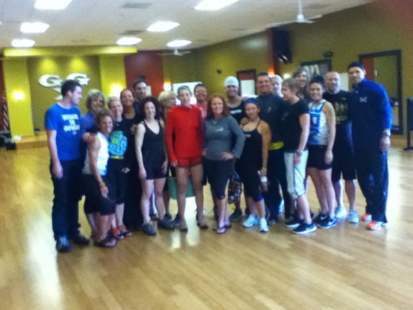 A group of Les Mills instructors pose for a team photo after completing their Advanced Instructor Module Part II in Sterling, Va., Sunday.