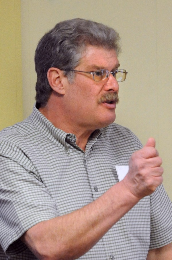 Bill Rae, the executive director of Manna Ministries in Bangor, speaks in March 2010.