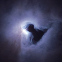 NGC 1999, a reflection nebula, shines because the light from an embedded source illuminates its dust, in this case a bright, recently formed star, visible just to the left of center in this Hubble Space Telescope image from the constellation Orion.