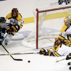 Mangene making smooth transition to defense for UMaine hockey team