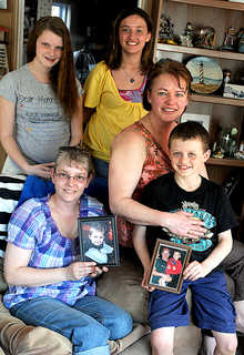 The Thurston and Thielbar families, clockwise, Jackie Thurston, Amanda Thurston, 17, Jillian Thielbar, 12, Shannan Thielbar, and Wyatt Thielbar, 8, are trying to get the laws changed about driving under the influence of narcotics, such as methadone, after their family member and close friend, Matthew Thurston, was killed in a car crash last August. He was 8 years old at the time of the accident.