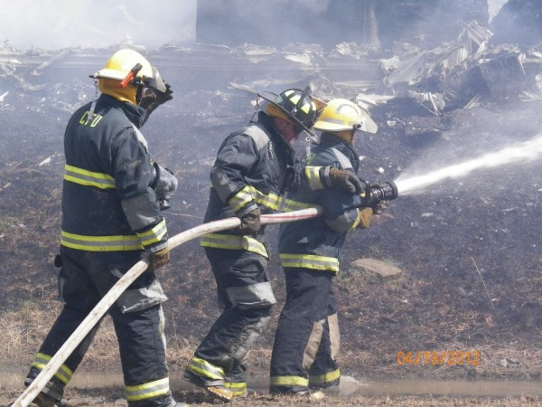 Bouchard Potato Co. was destroyed in a fast moving fire Thursday, April 19, 2012. The fire broke out at around 10 a.m., and officials do not know the cause at this point. No one was injured.