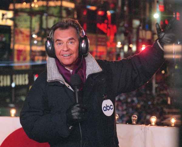 In this undated file photo released by ABC, Dick Clark hosts the New Year's eve special from New York's Times Square. Clark, the television host who helped bring rock 'n' roll into the mainstream on &quotAmerican Bandstand,&quot has died. He was 82.