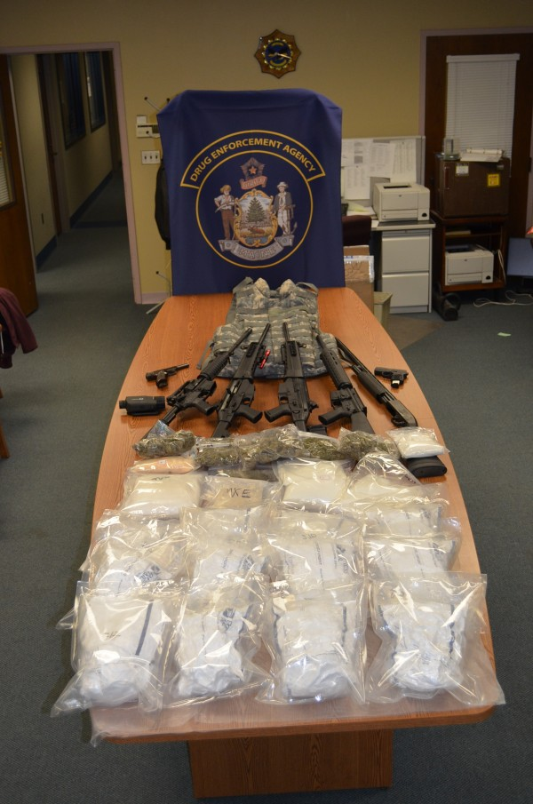 Authorities reportedly searched a home in Hudson on Wednesday, April 4, and found about 12 ounces of MDPV, more than a pound of marijuana, several semiautomatic assault rifles, two semiautomatic handguns, a 12-gauge shotgun, several hundred rounds of ammunition, stun guns, night vision equipment and military-grade ballistic body armor.