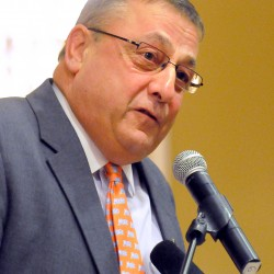 LePage continues attack on Democratic tracker at swearing-in
