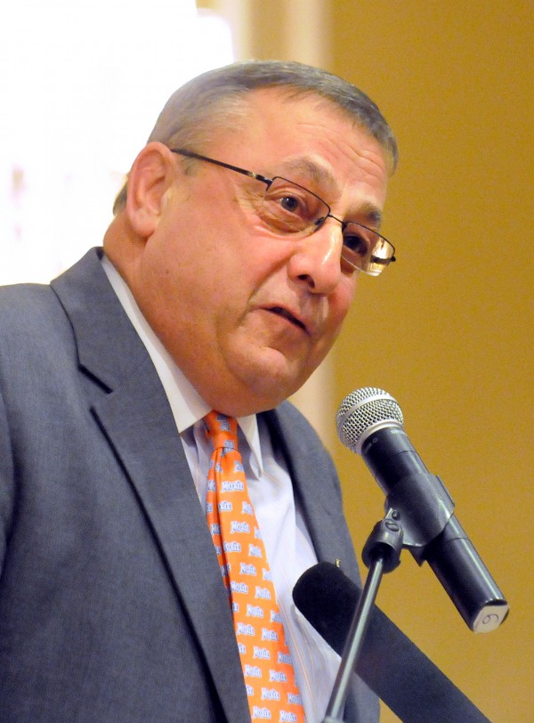 Gov. Paul LePage speaks in Rockland in March 2012.