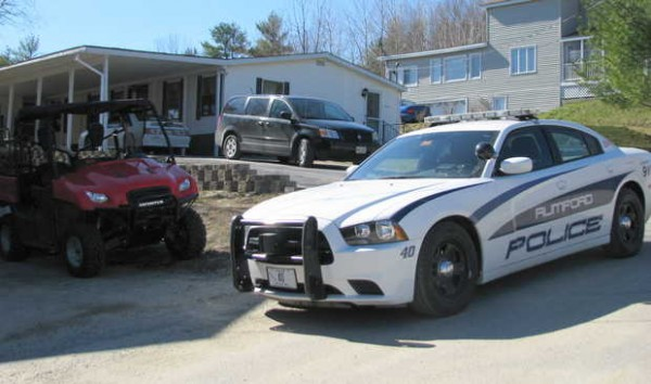 A Rumford police cruiser was parked outside the home of Dawn M. Miller, 36, of 818 Hillside Ave. on Friday as Maine Drug Enforcement agents, Rumford police and a Maine State Police drug-sniffing dog searched the single-story house. Miller was arrested on a charge of aggravated cocaine trafficking.