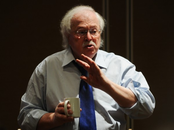 Dr. Michael Baden speaks at a forensic dental seminar at Hollywood Casino in Bangor on Saturday, April 21, 2012.