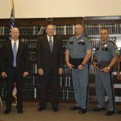 US Attorney for Maine recognizes outstanding law enforcement personnel, including a dog