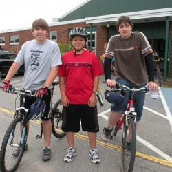 Trekkers students prepare to participate in the Pedal to the Port fundraiser.