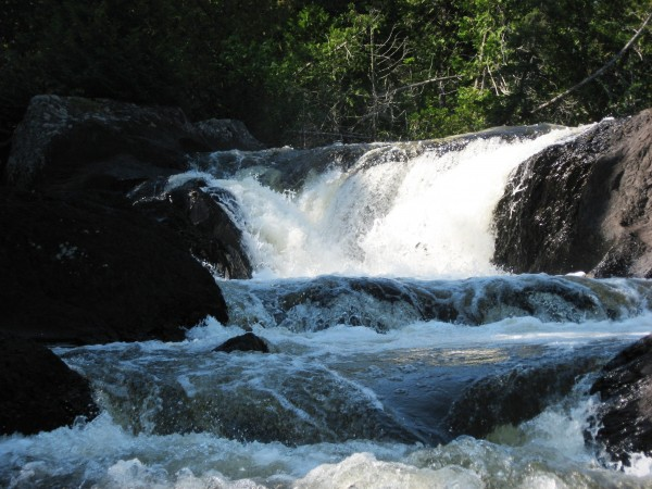 Little Allagash Falls on the Allagash Wilderness Waterway is one of the most beautiful and remote locations on the waterway. It can be part of a short AWW adventure.