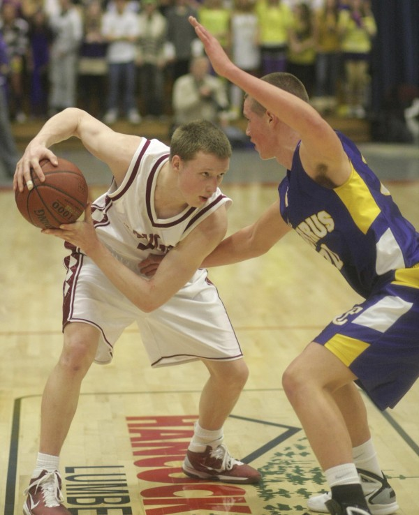 Former Bangor High standout Tristan Thomas (left) will study and play basketball beginning next fall at Barton College, a top-level NCAA Division II program in Wilson, N.C.