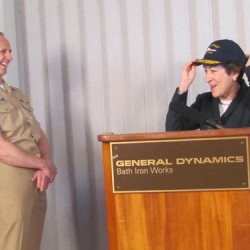 Navy chief visits Maine shipyard