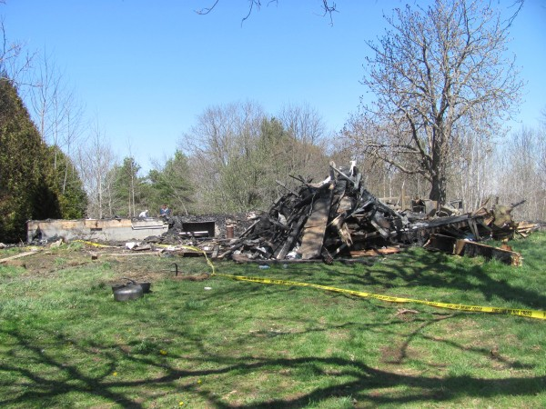This home on Sproul Lane in Boothbay was burned flat Wednesday, April 25, 2012 in a fire that family members said killed James Michael Sproul, who was known by most as simply &quotMike.&quot