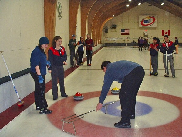 Unity against University of Pennsylvania in the Bronze/Copper Final, at Broomstones Curling Club in Wayland, Mass., at the New England College Curling Regionals. Unity won.