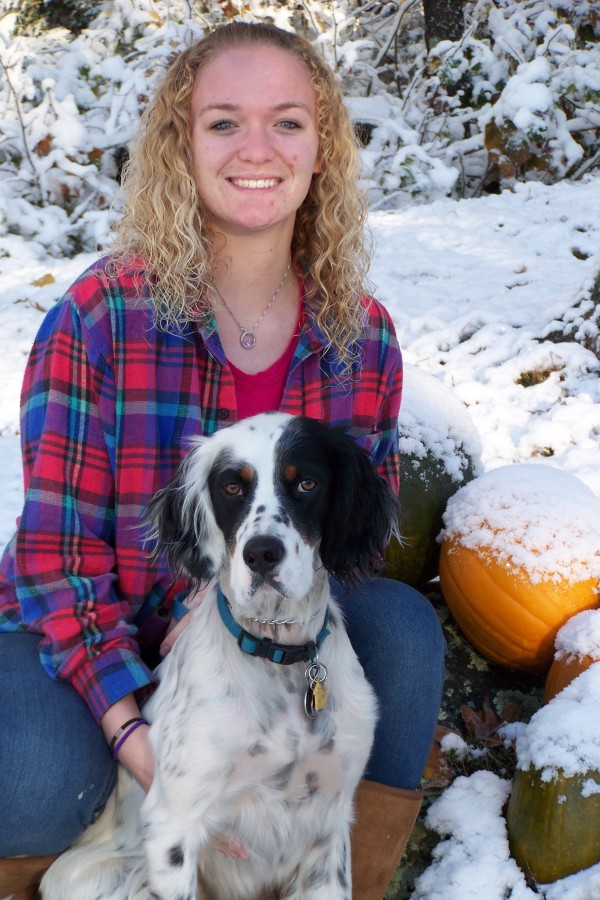 Emily Buell of Poland was named a semifinalist in the Build-A-Bear Workshop Huggable Heroes competition for founding the nonprofit organization College Bound Canines.