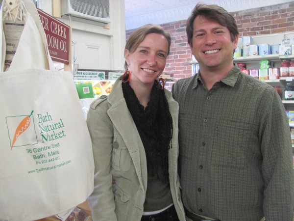 Louanne and Mark Schoninger, who own Bath Natural Market, helped put a recent online fundraiser for the Bath Freight Shed Alliance past its goal Saturday with a $2,300 donation.