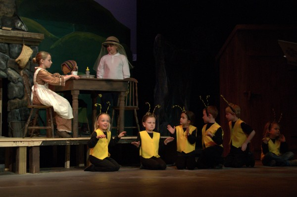 Children perform at a dress rehearsal of Andrew Frodahl's &quotThe Blueberry Balladeer&quot which is being performed at the Bangor Opera House.