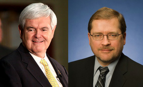 Newt Gingrich, left, and Grover Norquist