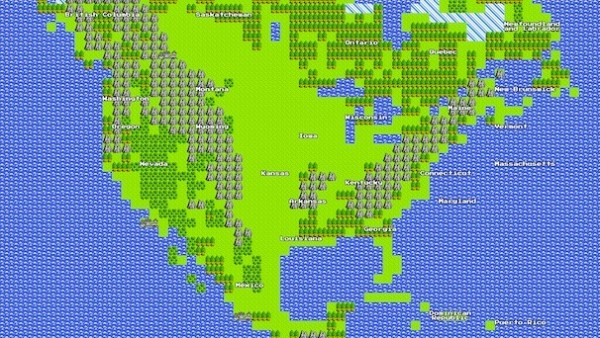Miss old-style gaming? Relive it with Google maps.