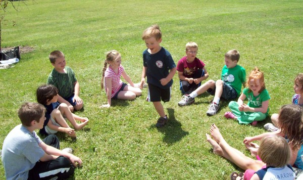 Children celebrate Healthy Kids Day with outdoor games in spring 2011 at the Piscataquis Regional YMCA in Dover-Foxcroft.