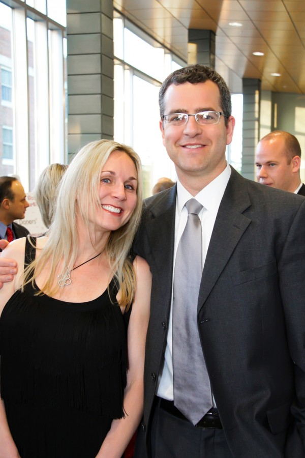 Stroke survivor Christine Worthen and her husband Matthew of Ellsworth enjoy time together at last year's Heart Ball.