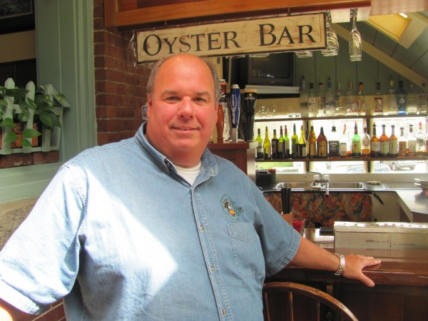 Todd Maurer, who owns King Eider's Pub in Damariscotta along with his wife and other family members, received a prestigious award recently from the National Restaurant Association. Maurer, shown in this April 24, 2012 photo, is among the founders of the Community Energy Fund, which has distributed more than $500,000 to 1,500 needy Lincoln County residents since it was founded in 2005.