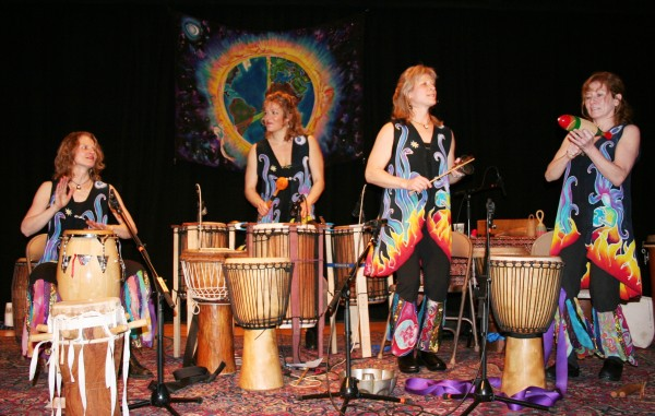 Inanna, Sisters in Rhythm, a percussion and vocal ensemble that explores the heritage and rhythms of West Africa, will be performing at the 18th HOPE Festival at the University of Maine in Orono on Saturday, April 21, 2012.