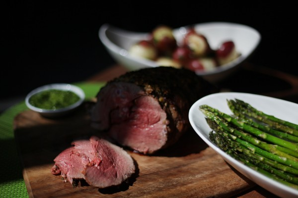Sales of lamb jump 50 percent around the spring holidays of Easter and Passover, according to the American Lamb Council. Here, a leg of lamb is prepared.