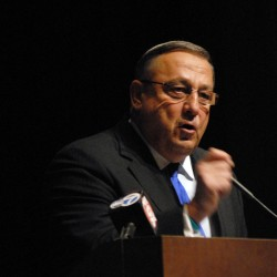 LePage, supporters rally around tax reform at Lewiston event